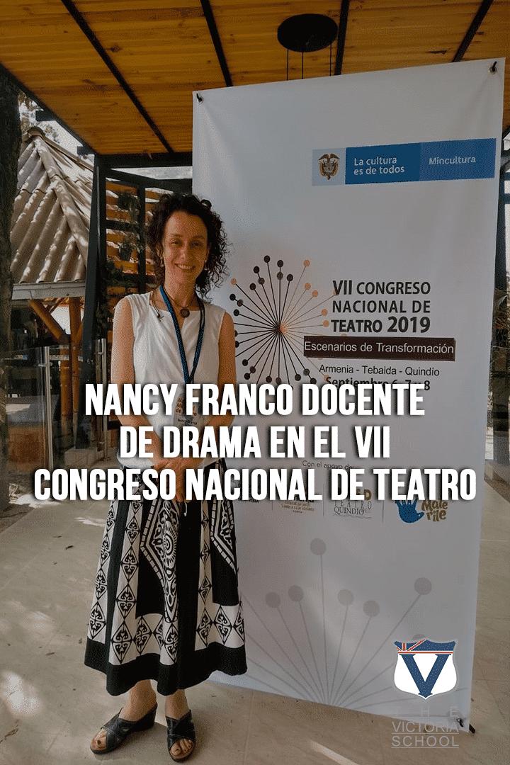 Nancy Franco Docente de Drama en el VII Congreso Nacional de Teatro