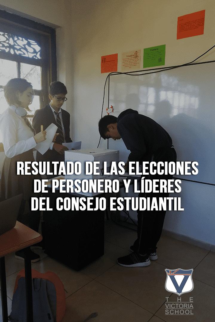 resultado de las elecciones de personero y líderes del Consejo Estudiantil