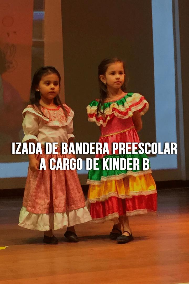 Izada de Bandera Preescolar a cargo de Kinder B